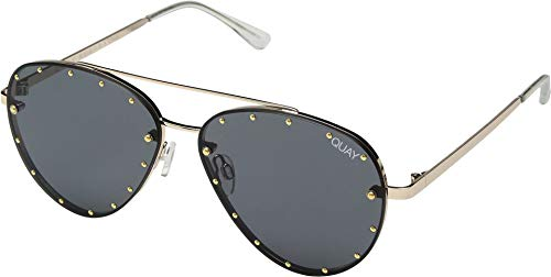 Quay Women's Roxanne Sunglasses, Smoke/Gold, One ()