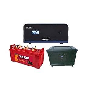 Exide Technologies 150 Ah Battery with Zelio 1100 Inverter (Multicolour)