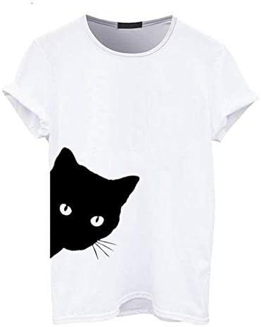 ADSIKOOJF Camiseta con Estampado Lateral de algodón para Mujer ...