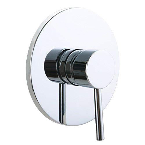 JiaYouJia Round Style Single Functional 1 Outlet Mixing Shower Valve in Polished Chrome by JiaYouJia