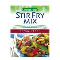 Concord Foods Asian Style Stir Fry Mix, Net Wt 1.1 oz(VALUE Case of 18 Packets) (Fry Vegetable Stir)