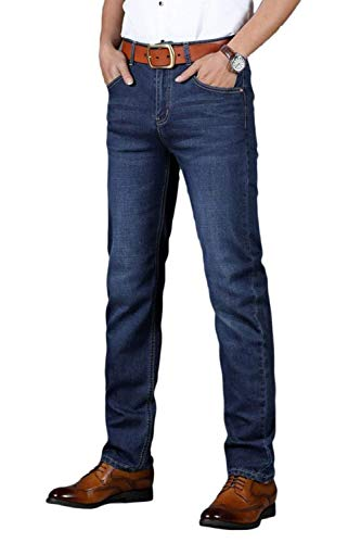 Uomini Casual Sblue Jeans Hosen Casuali Pantaloni Business Lungo Denim Fit retro Moda Dritto Slim 1xxSFqd0