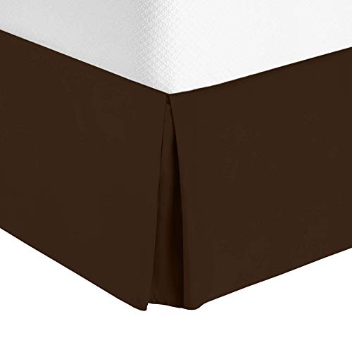 (Nestl Bedding Pleated Bed Skirt - Luxury Microfiber Dust Ruffle, 14