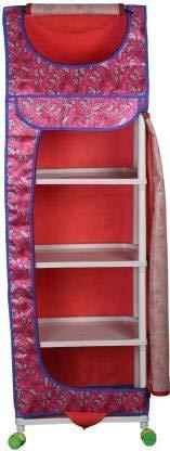 Eoan Multipurpose Collapsible Wardrobe PVC  Polyvinyl Chloride  Collapsible Wardrobe  Finish Color   Pink