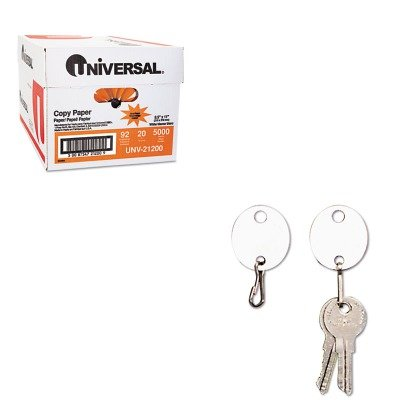 KITMMF201800706UNV21200 - Value Kit - MMF Oval Snap-Hook Key Tags (MMF201800706) and Universal Copy Paper (UNV21200)
