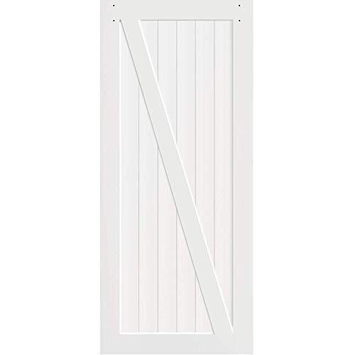 Kimberly Bay Z-Rail White Solid Core Pine Barn Door Slab (83.5×36)