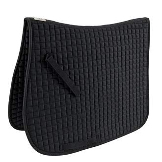 Dover Saddlery Quilted Dressage Pad, Dress, 25 Inch Spine, 22 Inch Drop, Black