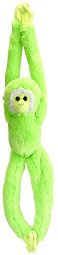 (Wild Republic Hanging Monkey Stuffed Animal Plush Toy, Gifts for Kids, Green, 20