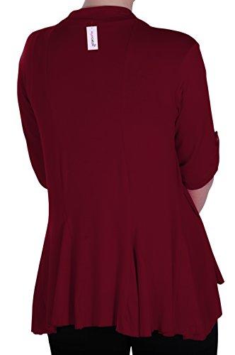 Grandes Eyecatch Vin Emily Tailles en ouvert Femme Du Gilet cardigan jersey XagxwXrF