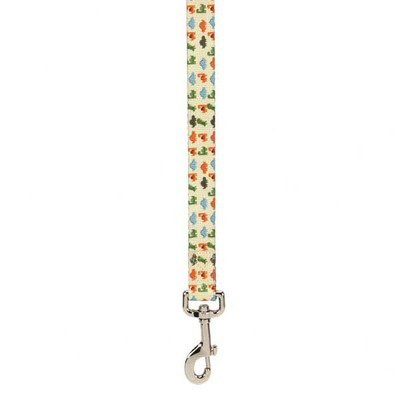 Casual Canine ZA3499 66 95 Dino Dog Lead Leash, 6-Feet by 1-Inch, White