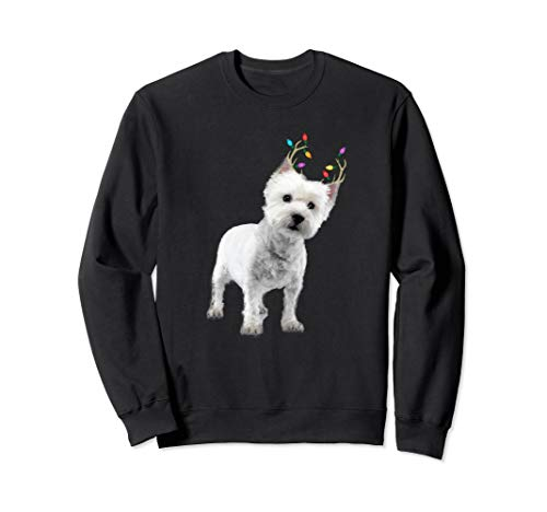 (Westie West Highland Terrier Reindeer Christmas Dog)