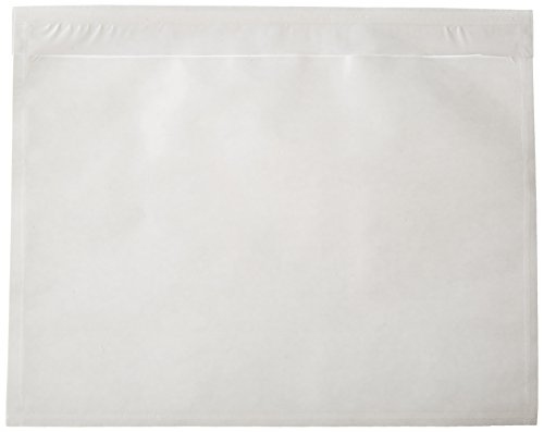NE IMAGE - 7.5'' x 5.5'' - Clear Adhesive Back - Packing List/Shipping Label Envelope Pouches (100pk) by NE IMAGE©