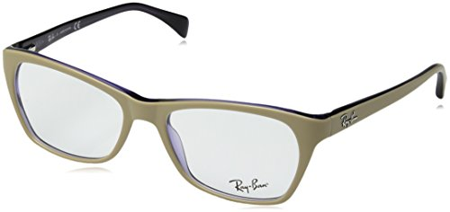 Ray Ban RX5298 Eyeglasses-5387 Top Matte Beige On Transparent - Womens Ban Eyeglasses Ray Frames