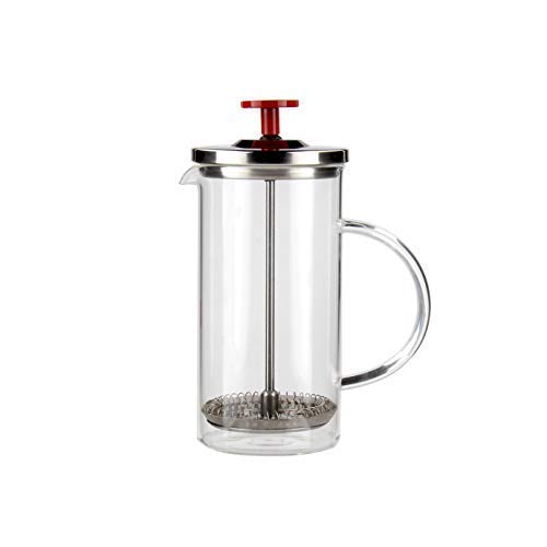French Press & Infuser - Serves 12oz of Perfectly Brewed Tea or Coffee - Handcrafted - Tea Pot - Coffee Pot - German Glass - Stainless Steel - No Plastics Used -