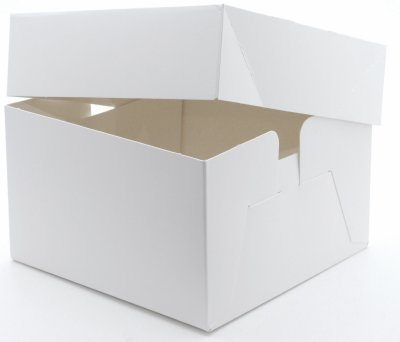 2 x White Cake Boxes 12