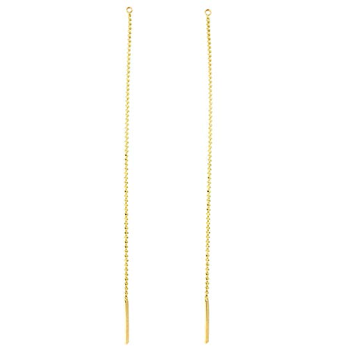 Automic Gold Solid 14k Rose Gold Bead Chain Earring Extender ()