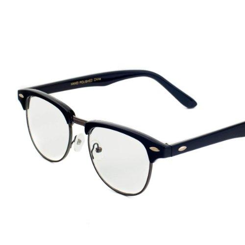 Half Frame Clear Lens Glasses : Vintage Inspired Classic Half Frame Wayfarers Clear Lens ...