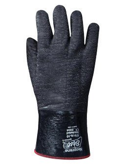SHOWA Best® Glove Size 10 Black Insulated Neo Grab Cotton Jersey Lined Cold Weather Gloves With Gauntlet Cuff, Neoprene® Coated And Wrinkle Finish - Coated Gauntlet