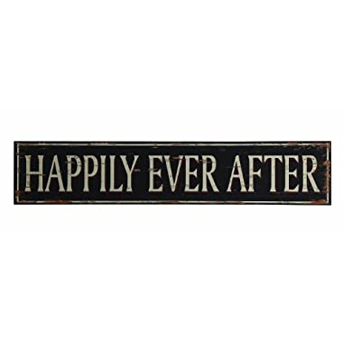 Creative Co-Op Turn of The Century MDF  Happily Ever After  Plaque