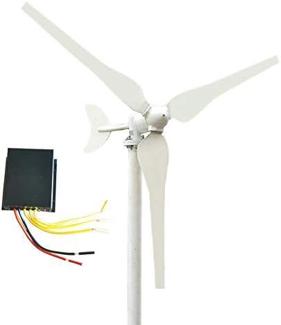 SYN-GUGAI Windturbine 50/100 Watt Wind Turbine Generator DC 12V / 24V Wind-Turbine-Generator Kit 3 Blades Wind Turbine-Generator, Kunststoff-Lichtklinge Windkraftanlagen für Ihr Zuhause,50W