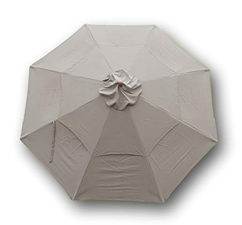 (Formosa Covers Double Vented Replacement Umbrella Canopy for 11ft 8 Ribs in Taupe (Canopy)