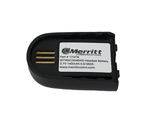 Hour Replacement Battery (Replacement Battery For Plantronics Savi W02, W740, W745, W440 and CS540XD Wireless Headsets)