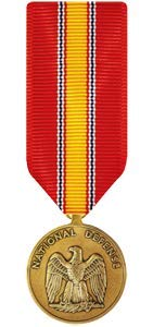 Medals of America National Defense Service Medal Miniature Bronze