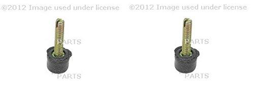Set of 2 Mercedes R107 W108/109/123/124/126 Hood Stop Febi + Rubber Buffer Cap (Hood Stop Buffer)