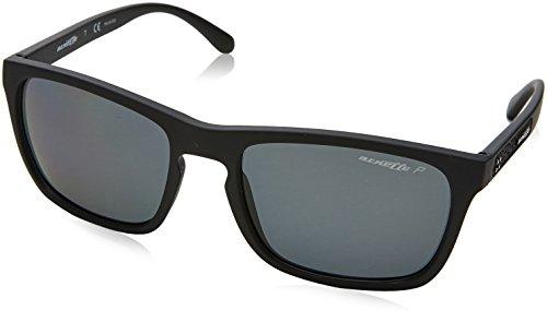 Arnette Men's AN4236 Burnside Rectangular Sunglasses, Matte Black /Polarized Grey, 56 ()