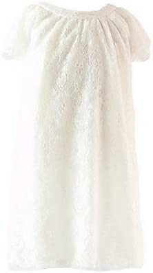 ZH de niña vestido blanco, encaje algodón verano Blanco blanco: Amazon.es: Deportes y aire libre