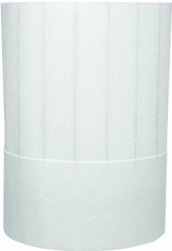 Chef Revival H048 Non Woven Fiber Disposable Pinstripe Chef Hat, 7