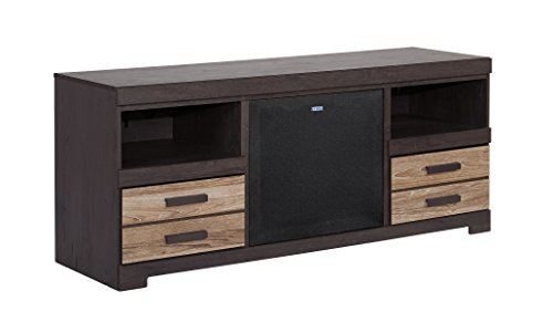 Ashley Furniture Signature Design - Harlinton Large TV Stand with Large Integrated Audio Unit Included - Warm Gray