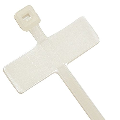 Cable Tie, w ID Tag, 4 in., Natural, PK100