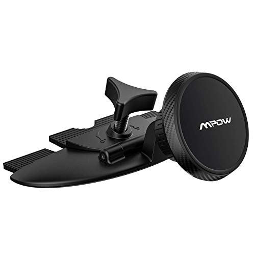 Mpow Upgraded CD Slot Car Phone Holder, Magnetic Car Phone Mount, Flexible Rotatable Ball Head Compatible iPhone Xs Max/Xs/Xr/X/8/8Plus, Galaxy S9/S8/S7 Note9/Note8, Google, Moto, Huawei and More