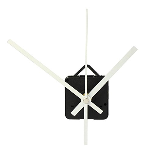 JDgoods Long Shaft Quartz Clock Movement DIY Mechanism, DIY Repair Parts Replacement Kit Include White Hands