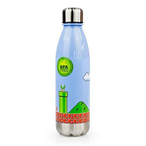 Super Mario Bros Water Bottle | 17 oz | Mario Collectibles