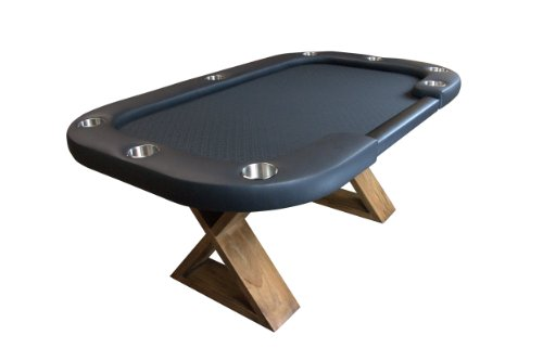 BBO Poker Helmsley Poker Table for 8 Players with Black Speed Cloth Playing Surface, 72 x 46-Inch, Includes Includes Matching Dining Top by BBO Poker