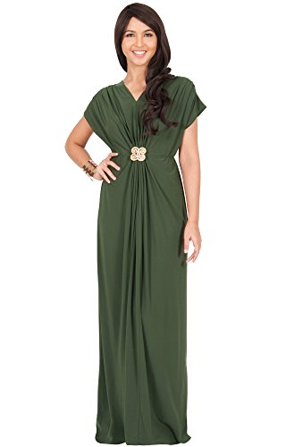 984395721178cd KOH KOH Womens Long Floor Length V-Neck Short Sleeve Flowy Summer Spring  Party Bridesmaids Semi Formal Maternity Prom Wedding Gown Gowns Maxi Dress  Dresses, ...