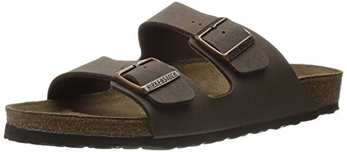 Birkenstock Women's Arizona Slide Fashion Sandals, Mocha Leather, 39 - Arizona Mens Slides