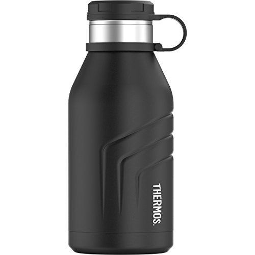 Thermos Element 5 Vacuum Insulated 32 oz Beverage Bottle with Screw Top Lid, Black (Element Screw)