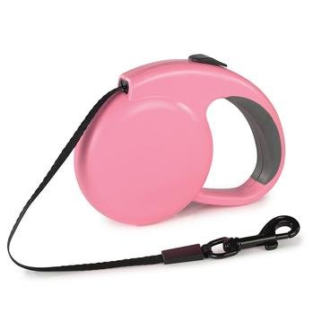 Retractable Dog Leash with Flashlight (PINK in color)