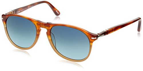 Persol Men's 0PO9649S Tortoise Orange/Blue Gradient ()