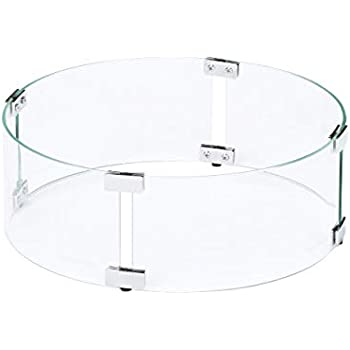 Amazon Com Skyflame 24 Quot Fire Pit Glass Wind Guard Round