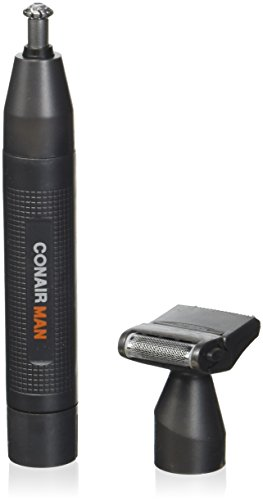 Conair Man Battery Powered Ear / Nose Trimmer; Includes Detailer and Shaver Attachment