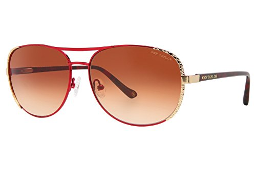 Ann Taylor AT507 Sunglasses - Frame Burgundy/Gold with texture - Taylor Sunglasses Ann