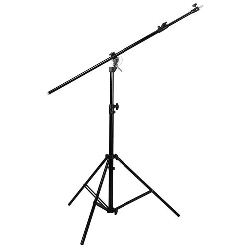 CowboyStudio M-1 Double Duty 2-in-1 13' Rotatable Studio Boom Stand/Light Stand 12lb Load with Sandbag