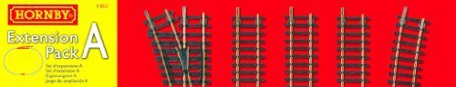 Extension Pack A Extend & Improve Train Set Model Railroad Layout Piece Easy Use by Hornby