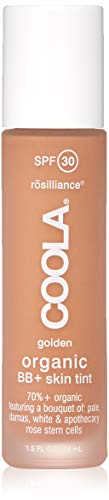 - COOLA Rosilliance Mineral BB+ Cream Tinted Organic Sunscreen | Broad Spectrum SPF 30 | Vegan | Water-Resistant | Ultra-Moisturizing | Antioxidant Enriched | Golden