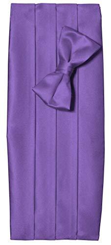 Tuxgear Tuxedo Cummerbund with Matching Bow Tie Set, Men