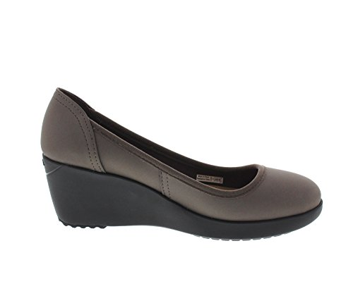 Black Marin Crocs Pewter Colorlite Wedge RnaZgnUYBq
